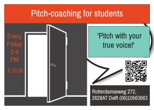 voorkant flyer Pitch-coaching studenten